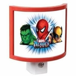 LED Marvel Heroes Auto On/Off Night Light