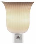 Pleated Sconce Automatic Night Light, White