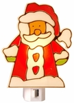 Stained Glass Santa, Manual Night Light - CLEARANCE SALE