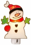 Stained Glass Snowman, Manual Night Light - CLEARANCE SALE