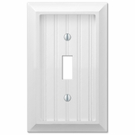 White and Almond Wallplates