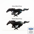 15-17 Mustang Pony Rear Emblem Black Ford Official Licensed