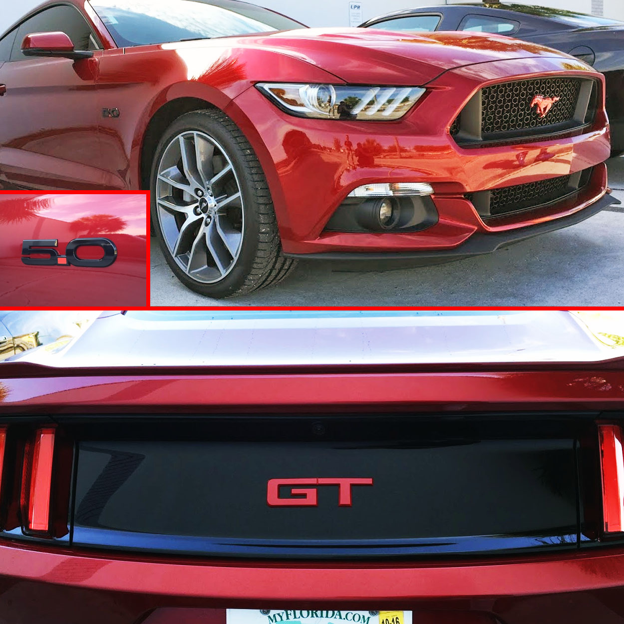 15-17 Mustang GT Emblem Package Color Coded Ford ...