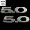 11-14 Mustang 5.0 Billet Emblem Set Ford Licensed