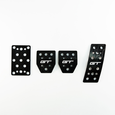 79-04 Mustang Billet Manual Pedal Kit GT Logo Black