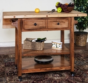 "Sedona Butcher Block Table With 9"" Drop Leaf by Sunny Designs 441-2238RO"