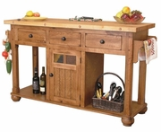 Sedona Kitchen Island Table by Sunny Designs 441-2522RO-3
