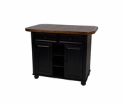 Small Tile Top Kitchen Island by Sunset Trading PK-KI-TT-05-BCH-T/B