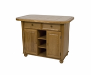 Small Tile Top Kitchen Island by Sunset Trading PK-KI-TT-05-LO-T/B