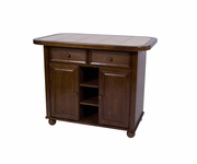 Small Tile Top Kitchen Island by Sunset Trading PK-KI-TT-05-NUT-T/B
