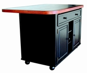 Tile Top Kitchen Island by Sunset Trading CY-KI-TT-02-BCH-T/B