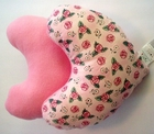 Blushing Roses Breast Cancer/Mastectomy Large Comfort Pillow