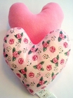Blushing Roses Small Breast Cancer & Mastectomy Heart Shaped Underarm Pillow