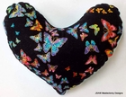 Butterflies for Freedom Breast Cancer Mastectomy Large Underarm Comfort Pillow