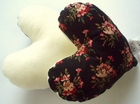 Carnation Bouquet Small Breast Cancer & Mastectomy Heart Shaped Underarm Pillow