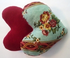 Flower Crown Jewels Small Breast Cancer & Mastectomy Heart Shaped Underarm Pillow