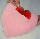 Small Mastectomy Heart Pillow With A Pocket And A Warming Heart
