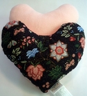 Midnight Flowers Breast Cancer/Mastectomy Large Comfort Pillow