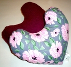 Peonies on Grey Breast Cancer Mastectomy Large Underarm Comfort Pillow