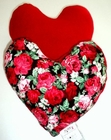 Red Roses Bouquet Small Breast Cancer & Mastectomy Heart Shaped Underarm Pillow