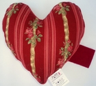 Ribbons and Roses Small Breast Cancer & Mastectomy Heart Shaped Underarm Pillow