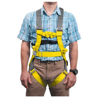 Liberty Mountain Rope Course Full-Body Harness Yellow XS