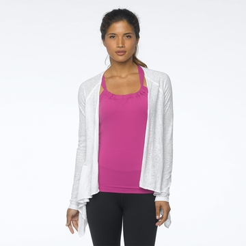 Prana Womens Julz Burnout Wrap White Blossom