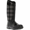 Bogs Womens Classic Winter Plaid Black