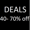 Deals 40 to 70% Off