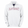 Denison 1/4 Zip Fleece White Sweatshirt