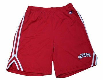 Denison Attack Short with Arched Logo Scarlet