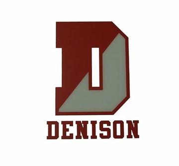 Denison Big D Clear Window Sticker