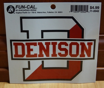 Denison Big D Window Sticker