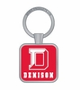 Denison Boston Keytag Red w/ White Imprint