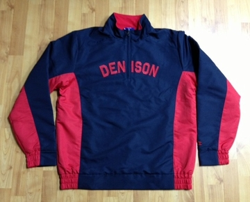 Denison Champion 1/4 Zip Fleece Windbreaker Navy/ Red