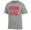 Denison Champion Sports Tee Volleyball Heather Grey