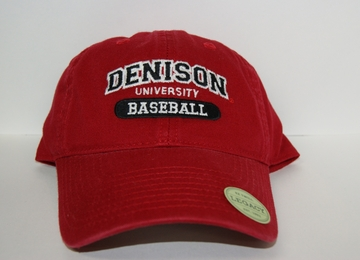 Denison Classic Baseball Hat Red