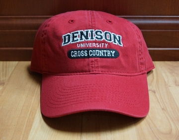 Denison Classic Cross Country Hat Red