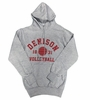 Denison Classic Fleece Hoodie Volleyball Gray