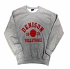 Denison Classic Fleece Volleyball Crew Gray