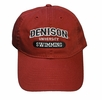 Denison Classic Swimming Hat Red
