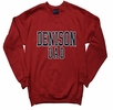 Denison Dad Comfort Fleece Crew Red