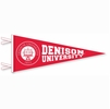 Denison Deluxe Embroidered Pennant Triangle Red