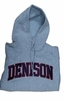 Denison Embroidered Hoodie Grey