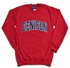 Denison Embroidered Rec Crew Sweatshirt Red