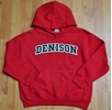 Denison  Embroidered Youth Red Hoodie