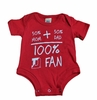 Denison Kids Onesie 100% Denison Fan Red