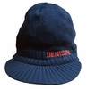 Denison Knit Hat with Bill Navy