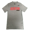 Denison Lacrosse Dri-Fit SS Tee Heathered Grey