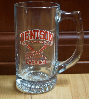 Denison Lacrosse Glass Mug